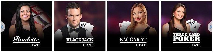 live casino JackpotJoy