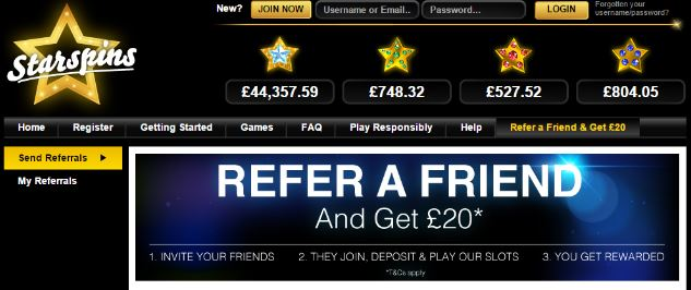starspins refer a friend