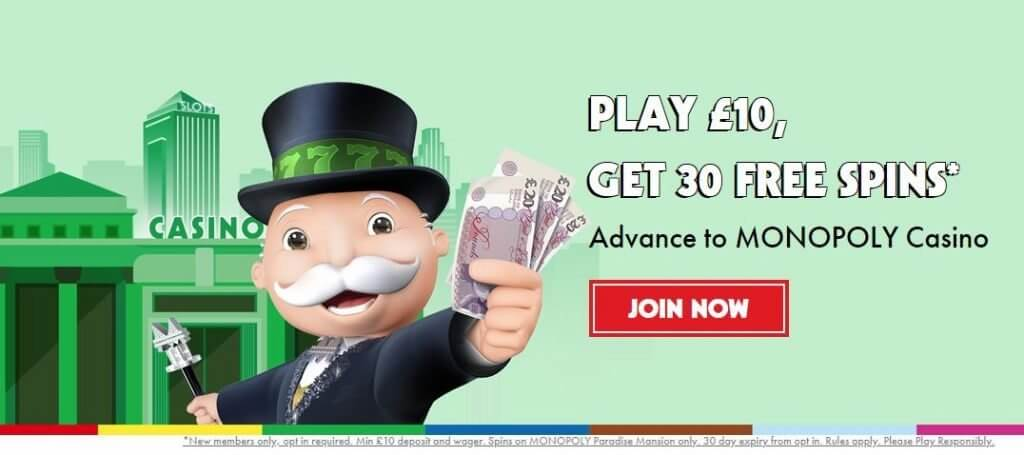 Monopoly Casino welcome offer