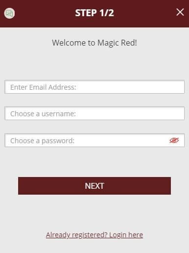 MAGIC RED REGISTRATION