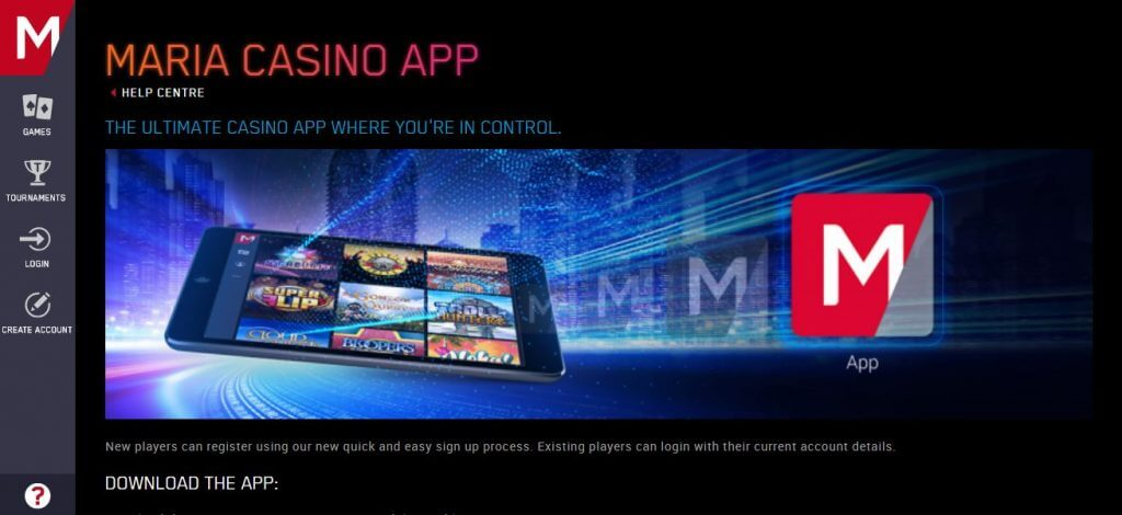 MARIA CASINO PAYMENT OPTIONS