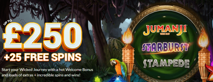 Wicked Jackpots Promo Code